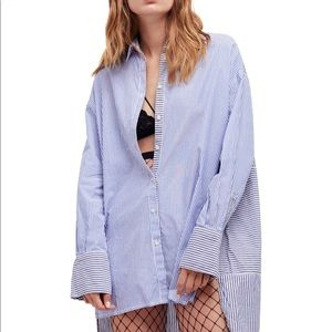 Free People Women's Lakehouse Buttonup shirt S